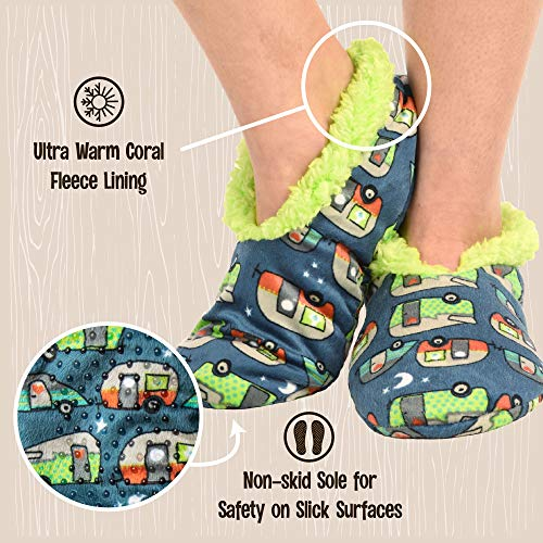 Product Image 3: Lazy One Fuzzy Feet Slippers for Women, Cute Fleece-Lined House Slippers, Night Out, Camper, Non-Skid