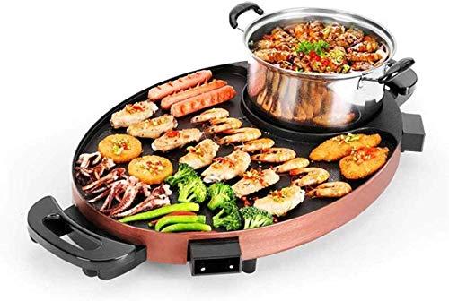 GBG Multifunktionaler Grill, Elektrische Backform Elektrischer Grill Hot Pot Antihaft-Hot Pot Mit Dual-Control-Schalter