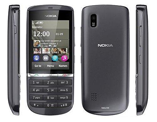 Nokia Asha 300 Handy Orange Entriegelt (6,1 cm (2,4 Zoll) Bildschirm, Touchscreen, 5 Megapixel Kamera) Graphite