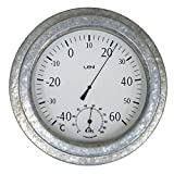 Leni Outdoor Thermometer - Galvanised, Silver, 640004