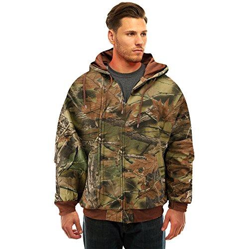 TrailCrest Men's Camo Full Zip Hooded Sweatshirt Jacket, 4X, Camo