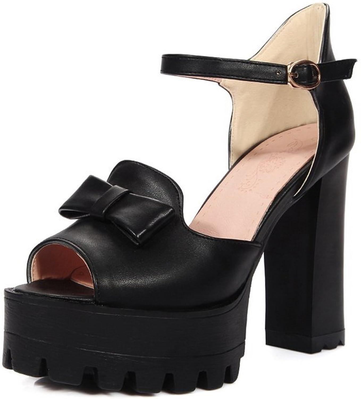 BalaMasa Womens Sandals High-Heels Platform Urethane Sandals ASL04881