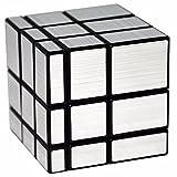 Zauberwürfel Spiegel, LSMY Speziell geformte 3x3x3 Puzzle Würfel Spielzeug Schwarz Silber