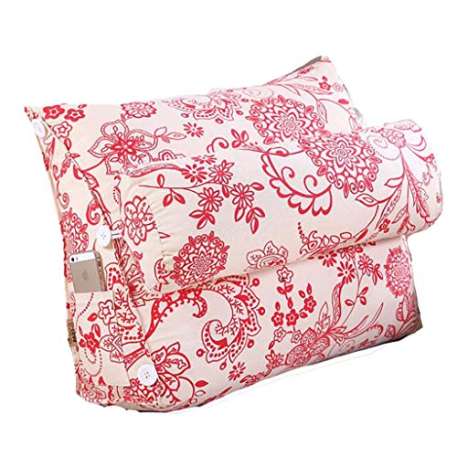 Dossier De Chevet Triangle lit coussin de dossier bureau lombaire oreiller coussin de canapé-lit oreiller coussin grande (taille : S)