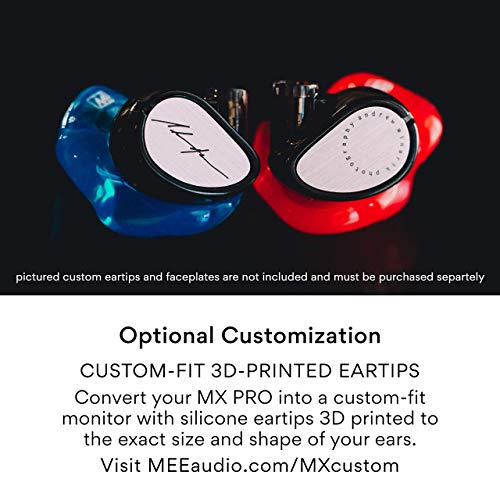 MEE Professional MX1 PRO Customizable Noise-Isolating Universal-Fit Modular Musician's In-Ear Monitors (Clear)