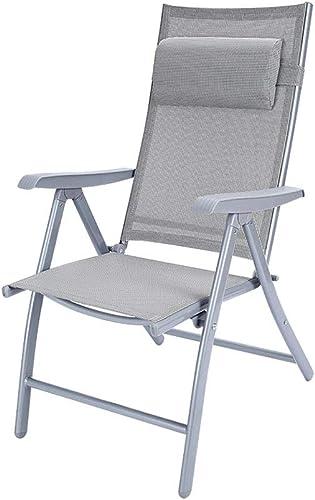 WZLDP Chaise Pliante, Chaise de Bureau, Chaise de Formation, Chaise de réunion, Chaise de Dossier, Table et Chaise Portables d'extérieur Chaise (Couleur   argent, Taille   59  70  112cm)