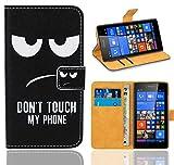 Microsoft Lumia 535 Handy Tasche, FoneExpert® Wallet Hülle Flip Cover Hüllen Etui Ledertasche Lederhülle Premium Schutzhülle für Microsoft Lumia 535 (Pattern 15)