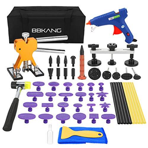 BBKANG Paintless Dent Removal Repair Remover Tool Kit 58pcs Car Dent Puller Set Dent Repair Tools for Hail Damage Door Ding