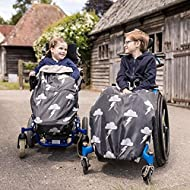 100% Waterproof Fleece-Lined Wheelchair Cozy Wheelchair Blanket   Universal fit for wheelchairs and Special Needs Buggies   Child Size (Silver Lightning)