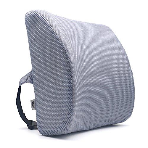 Valuetom Premium Lumbar Support Pillow - Cojín de Espuma de Memoria para la Parte Inferior de la Espalda para la Silla de su Hogar Silla de Oficina y Asiento para el Automóvil