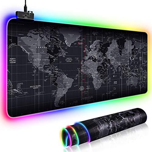 bon comparatif Tapis de souris gaming RGB avec 11 modes d'éclairage, tapis de souris gaming surdimensionné 80 * 30 cm,… un avis de 2021