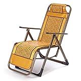FGDSA Sillas de Camping Tumbonas de jardín Silla Plegable Tumbonas de Sol Plegables Silla de Siesta de Oficina Colchoneta de Verano Sillón de bambú Sillón reclinable portátil para terraza de Playa al