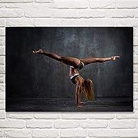 セクシーな女性のポスターワークアウトポスターホームジムの装飾動機付けの壁アートパネルフィットネスポスターインスピレーションを与えるポスタージムの壁ポスターキャンバスアートパネル50x70cm /フレームなしI241