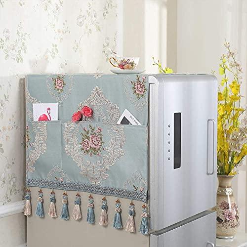 Cubierta Antipolvo para refrigerador Toalla para refrigerador Multiusos Cubierta Superior para Lavadora automática con Bolsa de Almacenamiento-p 55x135cm (22x53inch)