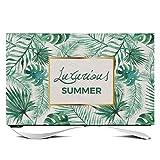 TINGTING Tv Abdeckung Halbe Packung LCD-TV-Staubschutzhülle 55 Zoll Brief Grüne Pflanzen Spleißen Monitorabdeckungen (Color : Ds007, Size : 40 inches)