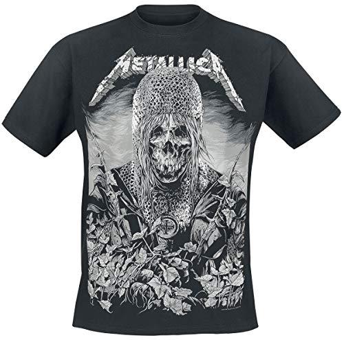 Metallica Templar Hombre Camiseta Negro, Regular