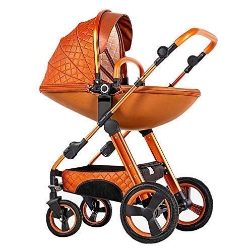Fantastic Deal! Abwy 3 in 1 High Landscape Egg Shell Stroller Can Sit and Lie Down Two-Way Toddler P...