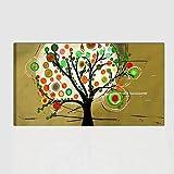 Los Colores del Caribe Sartén Parrilla Cuadros Modernos Abstractos Pintado A Mano árbol Listos para Colgar para Decorar casa Salón Oficina, Cocina Fabricado en Italia–Marbella