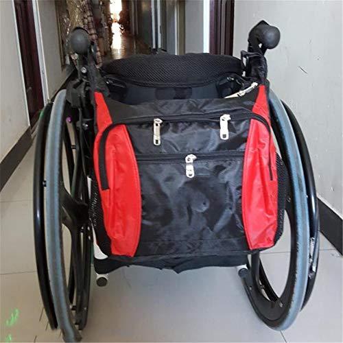 Rolstoeltas voor rugleuning, Opbergzakken voor rolstoeltoebehoren, Travel Messenger-rugzak voor heren, Dames, Handicap, Ouderen