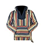 virblatt - Baja Hoodie Herren Pullover Ethno Jerga Mexican Goa Alternative Jacke - Utrecht CFL S