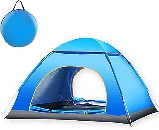 テント ワンタッチ キャンプテント 3-4人用 アウトドア用 設営簡単 コンパクト収納 防水 ANBURT UVカット 日本語説明書付き 展開サイズ:200×200×125㎝
