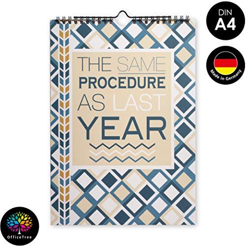 OfficeTree Bastelkalender zum Selbstgestalten - Kalender DIY in DIN A4 - Immerwährender Kalender zum Selbstgestalten - Blanko Bastelkalender 2021 zum Aufhängen (Geometrisch 2)