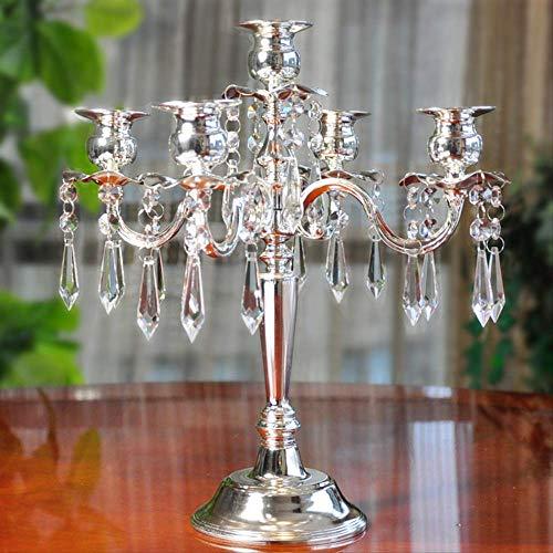CFLFDC Kaarsenabrocandlestick romantische schommel decoratie voor het avondeten van de bruiloft van het huis kaars met vijf koppen