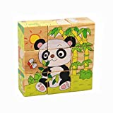 OFKPO Animal Forest Cube Bois Bloquer Puzzles, Puzzle de Développement Jouets Educatifs de Puzzle Bois Puzzle 3D Multicolore