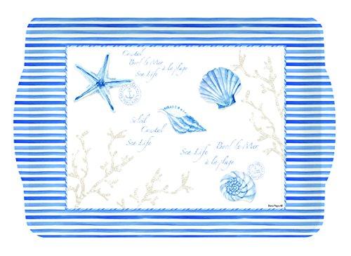 EASY LIFE 530MIST Plateau, Mélamine, Bleu, 46 x 32 x 2 cm