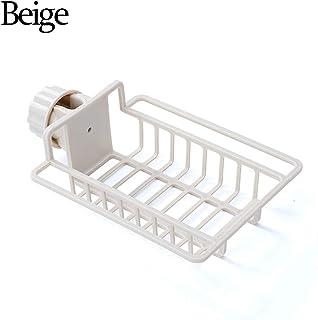 Tooeary Sink Rack, Kitchen Drain Rack Kitchen Multi Rag Soap Storage Rack Sponge Rack Holder Racks Bathroom Supplies(Beige)