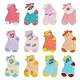 12 Pairs Kids Non Slip Skid Socks Grips Sticky Slippery Cotton...