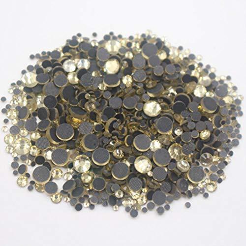 PENVEAT Hot Fix Rhinestone Pink Glitter Strass Flatback Glass Crystal Hotfix Piedras Hierro en Diamantes de imitación para Ropa Zapatos, junquillo, 1000pcs