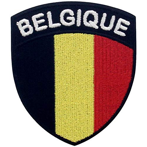 Bandera de escudo de Blgica Parche Bordado de Aplicacin con Plancha