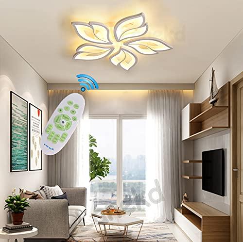 Lámpara LED de techo para Salón Dormitorio Plafones Modernas Regulable Con mando a distancia Lámpara Colgante Pantalla de...