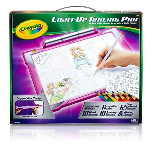 Crayola Light Up Tracing Pad Pink, AMZ Exclusive, At Home Kids Toys, Gift for Girls & Boys, Age 6+
