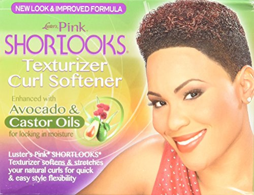 Luster's Pink Shortlooks Texturizer Curl Softener, One Complete Application Kit