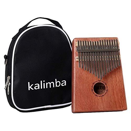 NIHAOA Tragbare Daumenklavier 17 Keys Kalimba Mahagoni African Daumenklavier Tasteninstrument Geschenk Tuning Hammer + Manual + Sticker + Reinigungstuch (Farbe: gelb) (Color : Yellow)