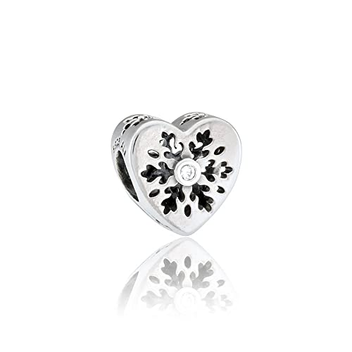 f6a153208 Pandora Snowflake Heart Silver Charm with Cubic Zirconia 796359CZ