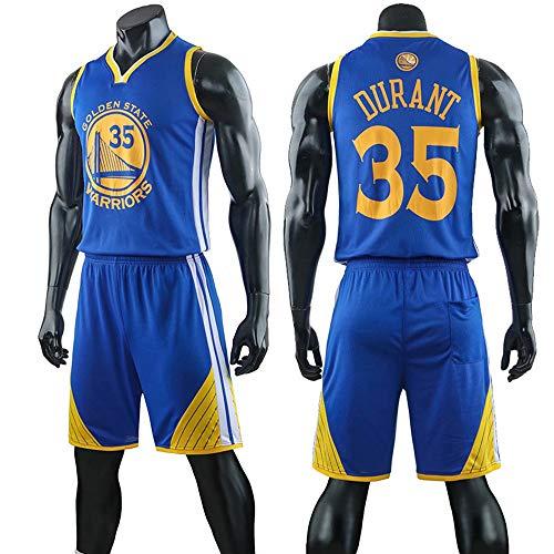 Camiseta De Baloncesto NBA para Hombre, Kevin Durant # 35 Jersey Conmemorativo Golden State Warriors Fan Jersey, Chaleco Deportivo Sin Mangas Unisex, Uniformes De Swingman,Azul,3XL