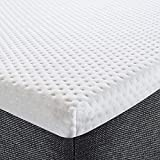 TIANTU <span class='highlight'>Mattress</span> <span class='highlight'>Topper</span> <span class='highlight'>Single</span> <span class='highlight'>Bed</span>,High Elastic Sponge Breathable <span class='highlight'>Mattress</span> <span class='highlight'>Topper</span> with Washable and Removable Sweat-Resistant Polyester Fabric Cover(90x190cm)