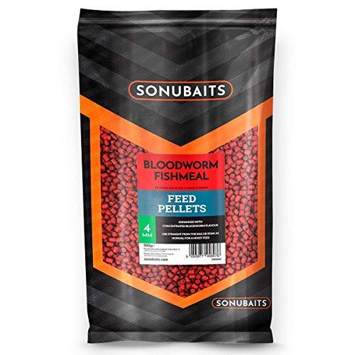 Sonubaits Bloodworm Fishmeal Feed Pellets 900g 4mm S0800002 Pellet Karpfenpellets Futter