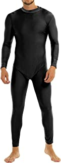 YiZYiF Unisex Lycra Turtleneck Spandex Long Sleeve Unitard Bodysuit Adult Costume