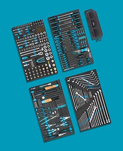 Hazet Werkzeug-Sortiment 0-179XL/317 Werkzeug-Set, schwarz/blau, 317-teilig