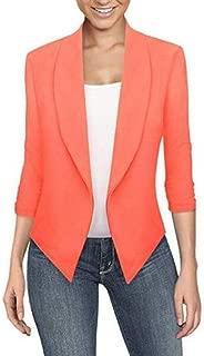 FSSE Women's Casual Slim Solid Color Cardigan Business Work OL Blazer Jacket Coat