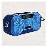 Altavoces portátiles Bluetooth inalámbrica incorporada de aviso meteorológico camping al aire libre de emergencia de radio AM / FM, más ruidoso estéreo de sonidos graves profundos, Banco de alimentaci