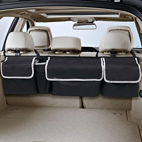 LBLA Backseat Trunk Organizer, Auto Hanging Seat Back Storage Organizer for SUV and Many Vehicles  Free Your Trunk Space