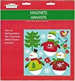 Christmas and Winter Themed Glitter Refrigerator Magnets 2017 (Snowman)