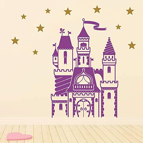 hetingyue Muurstickerset, magisch slot voor sprookjeskamer, kinderkamer, kinderverzorging, thuis, tienerkamer, slaapkamer, afneembare stickers