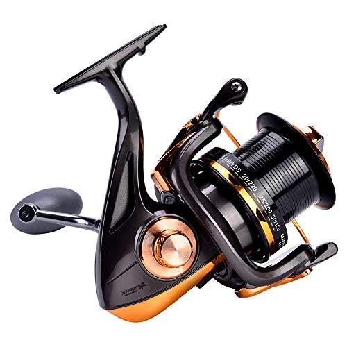 CDSL Carrete de Pesca Carrete De Pesca 14 + 1BB De Alta Velocidad Metallic Metallic Spinning Pesca De Pesca De Pesca Rueda Accesorios De Aparejos (8000)