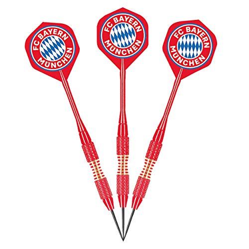 Bayern München Dartpfeile mit Etui und Flights, Steeldarts, Dart Pfeile FCB - Plus Lesezeichen I Love München